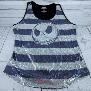 Night Before Christmas Sequin Tank Top Sz XL